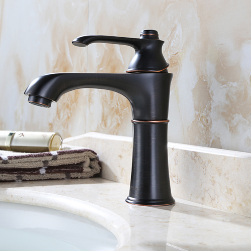 Purelux Wise Classic Style One Handle Control Bathroom Faucet, Oil Rubbed Bronze